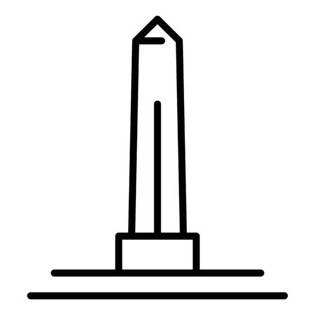 Egyptian obelisk icon, outline style Vectores