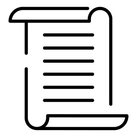 Papyrus icon, outline style Stock Illustratie