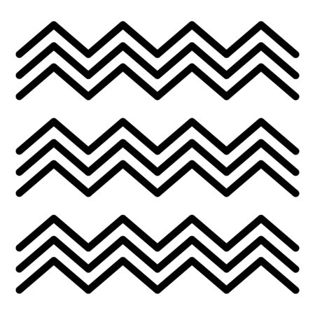 Ägyptische Fresko-Welle-Symbol. Umreißen Sie das ägyptische Freskowellenvektorsymbol für das Webdesign, das auf weißem Hintergrund lokalisiert wird