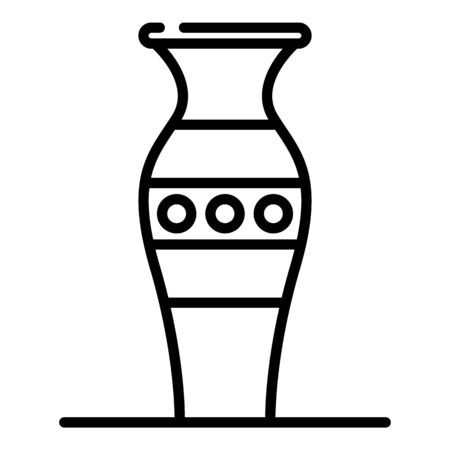Ancient vase icon. Outline ancient vase vector icon for web design isolated on white background Stock Illustratie