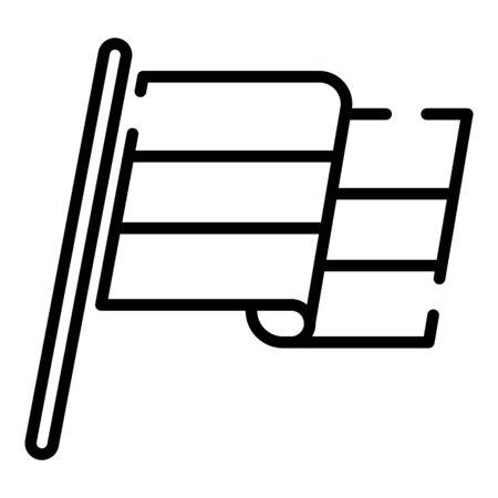 Egyptian flag icon. Outline egyptian flag vector icon for web design isolated on white background Stock Illustratie