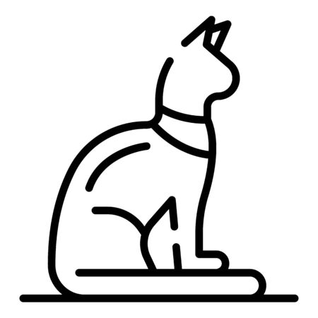 Egyptian cat icon, outline style Фото со стока - 129339056