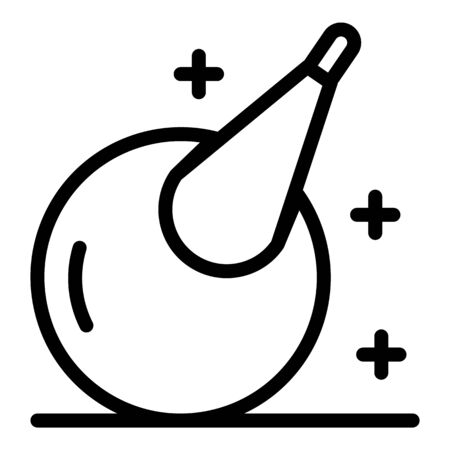 Medical pear icon, outline style