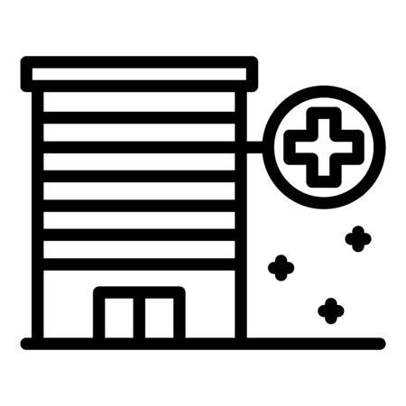 Medical center icon, outline style Ilustração
