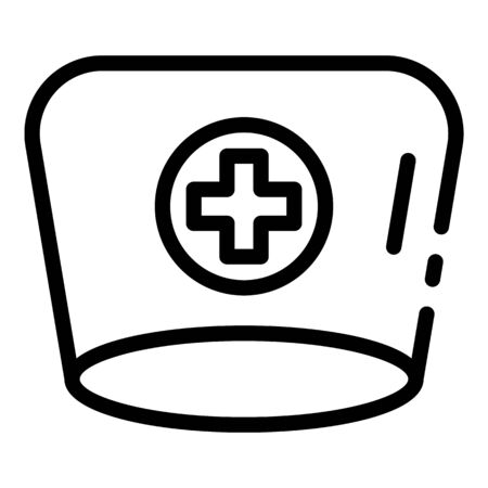Doctor headdress icon, outline style