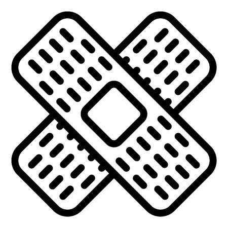 Medical patch icon, outline style Ilustração