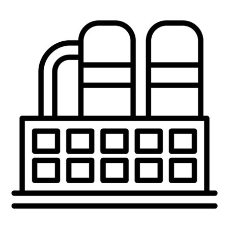 Chemical industry icon. Outline chemical industry vector icon for web design isolated on white background