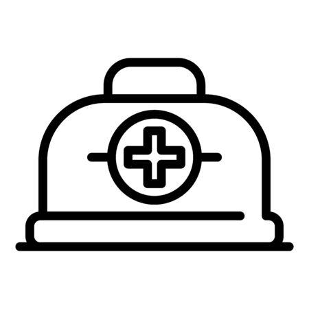Medicine box icon. Outline medicine box vector icon for web design isolated on white background