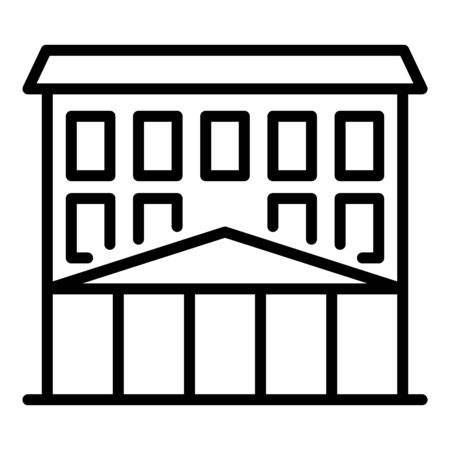 College building icon. Outline college building vector icon for web design isolated on white background Illustration