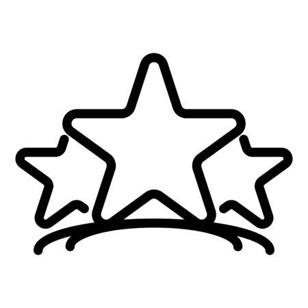 Three stars icon. Outline three stars vector icon for web design isolated on white background Vektoros illusztráció