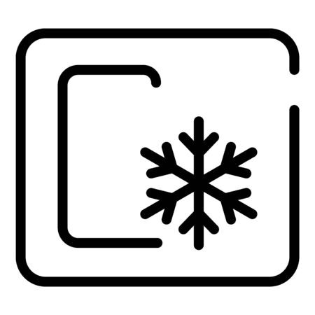 Sign celsius snowflake icon, outline style