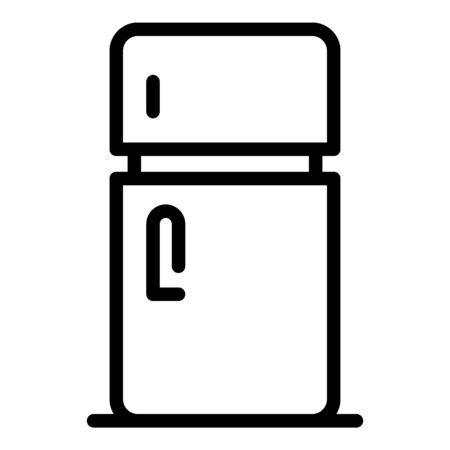 Fridge icon. Outline fridge vector icon for web design isolated on white background