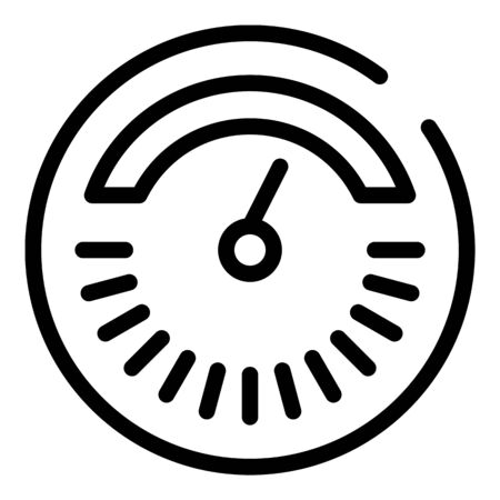 Round thermometer icon, outline style 向量圖像