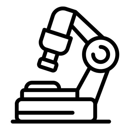 Surgical table icon, outline style Illustration