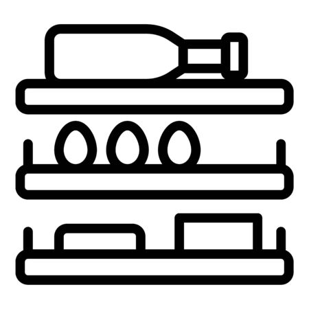 Refrigerator shelves icon. Outline refrigerator shelves vector icon for web design isolated on white background