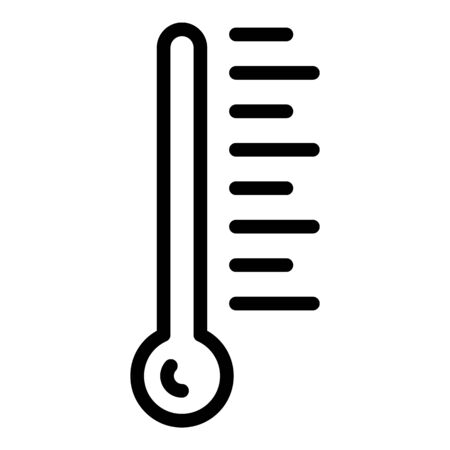 Thermometer icon. Outline thermometer vector icon for web design isolated on white background Vectores