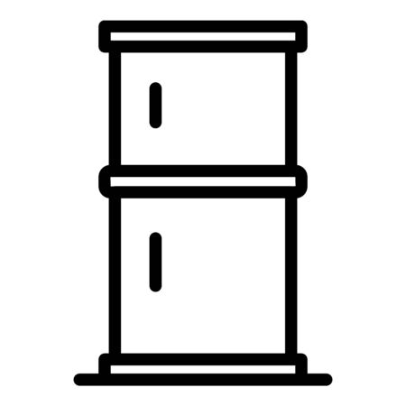 Two chamber refrigerator icon, outline style