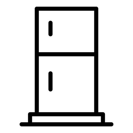 Standard refrigerator icon, outline style