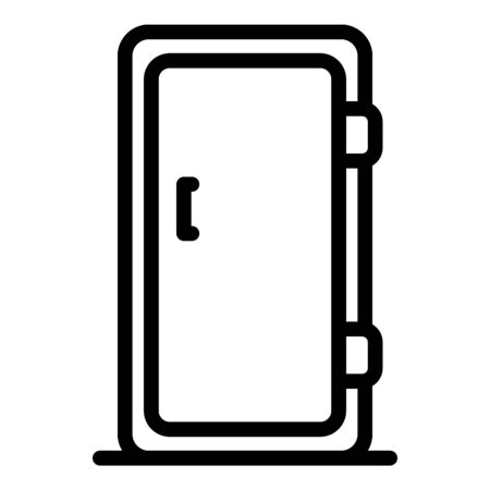 Single door refrigerator icon, outline style 스톡 콘텐츠 - 129339423
