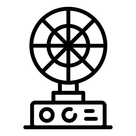 Table fan icon, outline style