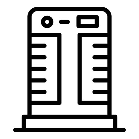 Floor air conditioner icon, outline style