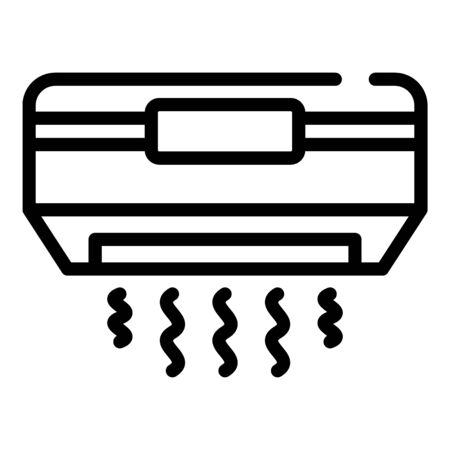 Air conditioning icon, outline style