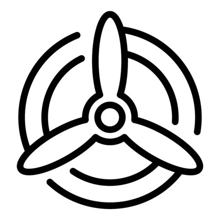 Airplane propeller icon, outline style