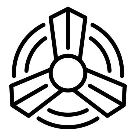 Propeller icon, outline style Иллюстрация