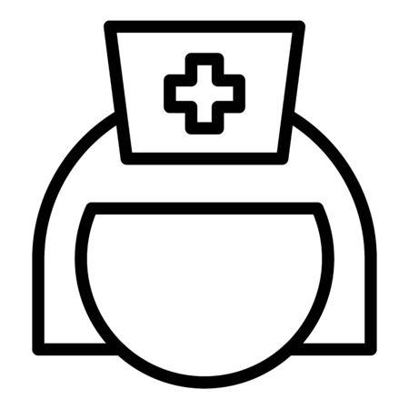 Nurse icon, outline style