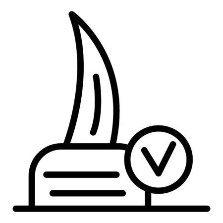 Cat claw icon, outline style