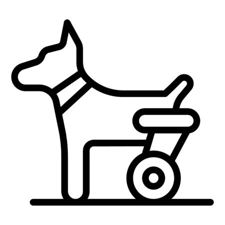 Dog hind legs trolley icon. Outline dog hind legs trolley vector icon for web design isolated on white background Banco de Imagens - 130256971