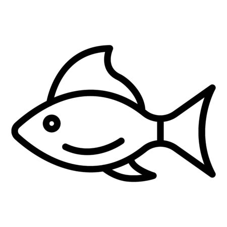 Sick fish icon, outline style