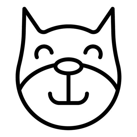 Healthy squirrel icon, outline style