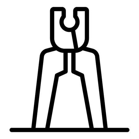 Veterinar pliers icon, outline style Stock Illustratie