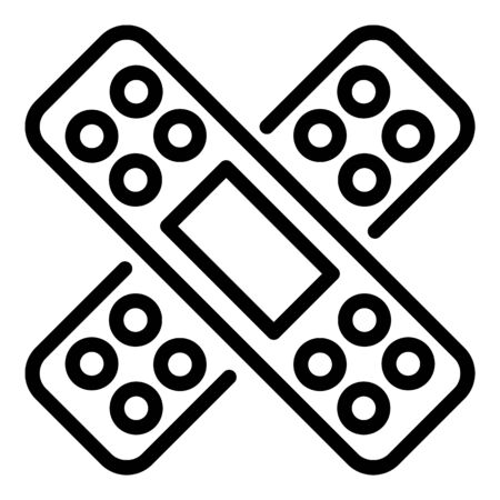 Adhesive plaster icon, outline style