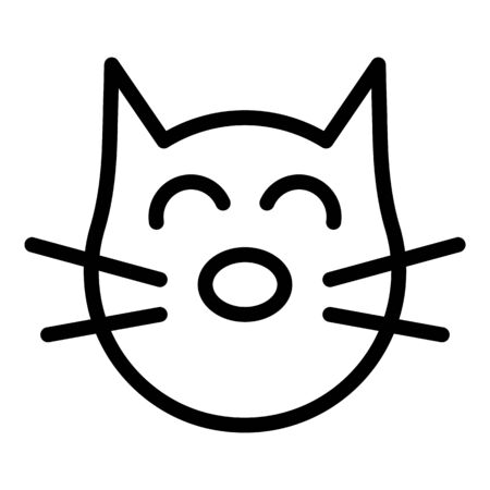 Cured cat icon. Outline cured cat vector icon for web design isolated on white background