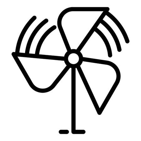 Children propeller icon, outline style