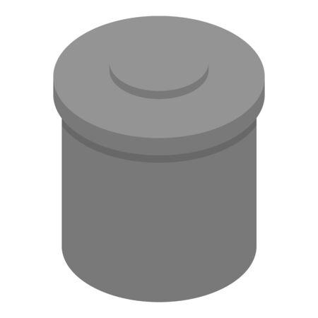 Protein jar icon, isometric style