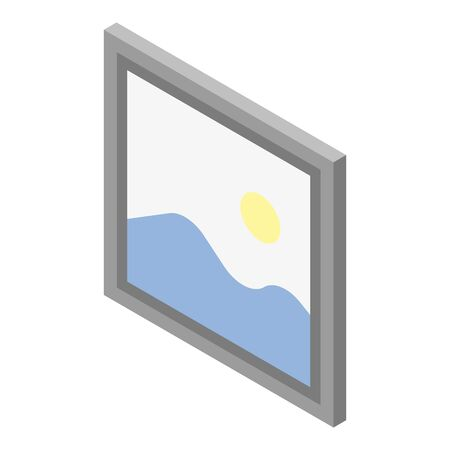 Wall picture icon, isometric style Illustration