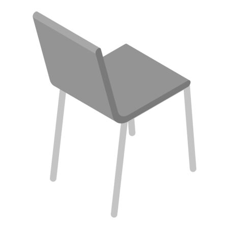 Metal chair icon, isometric style