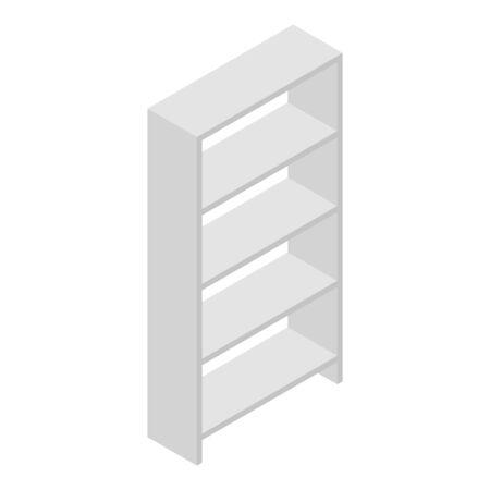 Shelf hospital icon, isometric style