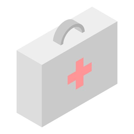 First aid kit icon, isometric style