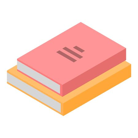 Stack books icon, isometric style Stock Illustratie