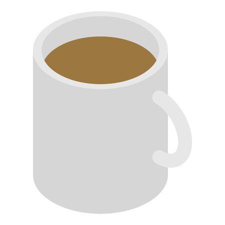 Coffee mug icon, isometric style