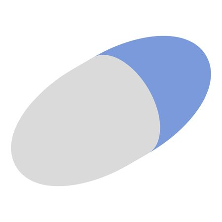Treatment capsule icon, isometric style