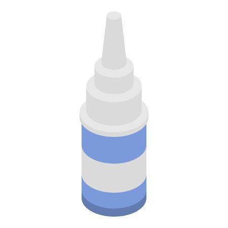 Nose spray icon, isometric style