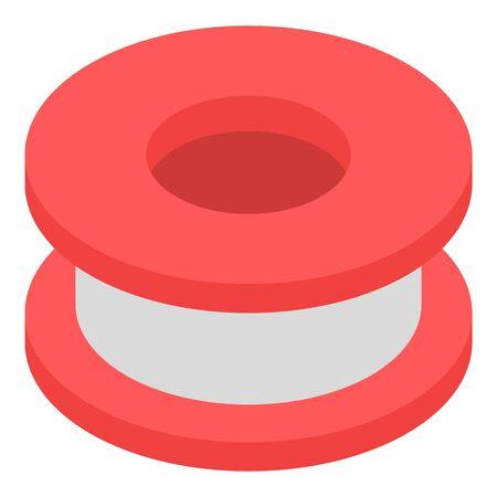 Plaster wheel icon, isometric style