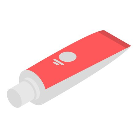 Medical toothpaste icon, isometric style