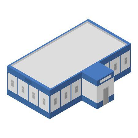 Milk factory building icon, isometric style