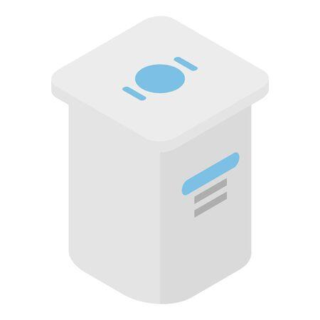 Yogurt package icon, isometric style Иллюстрация